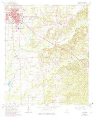 Amory Mississippi Historical topographic map, 1:24000 scale, 7.5 X 7.5 Minute, Year 1966