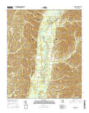 Amory SE Mississippi Current topographic map, 1:24000 scale, 7.5 X 7.5 Minute, Year 2015 from Mississippi Maps Store