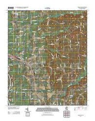 Amory SW Mississippi Historical topographic map, 1:24000 scale, 7.5 X 7.5 Minute, Year 2012