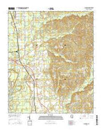 Amory SW Mississippi Current topographic map, 1:24000 scale, 7.5 X 7.5 Minute, Year 2015 from Mississippi Map Store
