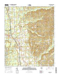 Amory SW Mississippi Current topographic map, 1:24000 scale, 7.5 X 7.5 Minute, Year 2015