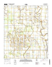 Arcola Mississippi Current topographic map, 1:24000 scale, 7.5 X 7.5 Minute, Year 2015 from Mississippi Maps Store