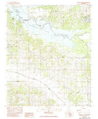 Arkabutla East Mississippi Historical topographic map, 1:24000 scale, 7.5 X 7.5 Minute, Year 1983