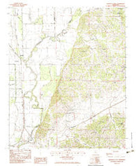 Arkabutla West Mississippi Historical topographic map, 1:24000 scale, 7.5 X 7.5 Minute, Year 1983