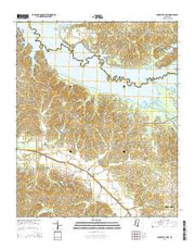 Arkabutla East Mississippi Current topographic map, 1:24000 scale, 7.5 X 7.5 Minute, Year 2015 from Mississippi Maps Store