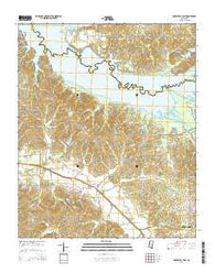Arkabutla East Mississippi Current topographic map, 1:24000 scale, 7.5 X 7.5 Minute, Year 2015