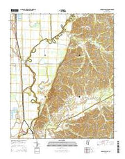 Arkabutla West Mississippi Current topographic map, 1:24000 scale, 7.5 X 7.5 Minute, Year 2015 from Mississippi Maps Store