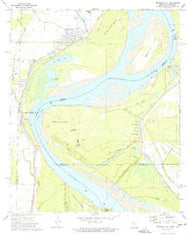 Arkansas City Arkansas Historical topographic map, 1:24000 scale, 7.5 X 7.5 Minute, Year 1972