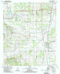 Artesia Mississippi Historical topographic map, 1:24000 scale, 7.5 X 7.5 Minute, Year 1987
