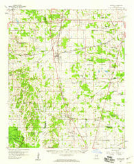 Artesia Mississippi Historical topographic map, 1:62500 scale, 15 X 15 Minute, Year 1959