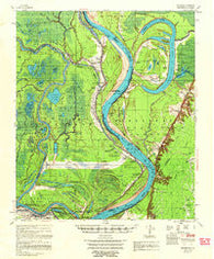 Artonish Mississippi Historical topographic map, 1:62500 scale, 15 X 15 Minute, Year 1958