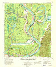 Artonish Mississippi Historical topographic map, 1:62500 scale, 15 X 15 Minute, Year 1967