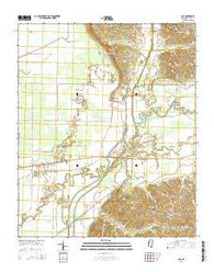 Asa Mississippi Current topographic map, 1:24000 scale, 7.5 X 7.5 Minute, Year 2015