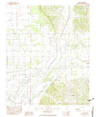 Asa Mississippi Historical topographic map, 1:24000 scale, 7.5 X 7.5 Minute, Year 1983