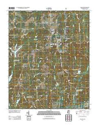 Ashland Mississippi Historical topographic map, 1:24000 scale, 7.5 X 7.5 Minute, Year 2012