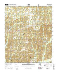 Ashland Mississippi Current topographic map, 1:24000 scale, 7.5 X 7.5 Minute, Year 2015