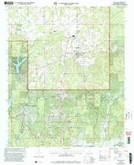 Ashland Mississippi Historical topographic map, 1:24000 scale, 7.5 X 7.5 Minute, Year 2000