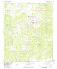 Ashland Mississippi Historical topographic map, 1:24000 scale, 7.5 X 7.5 Minute, Year 1982