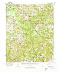 Ashland Mississippi Historical topographic map, 1:62500 scale, 15 X 15 Minute, Year 1950