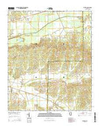 Atlanta Mississippi Current topographic map, 1:24000 scale, 7.5 X 7.5 Minute, Year 2015 from Mississippi Map Store