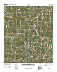 Auburn Mississippi Historical topographic map, 1:24000 scale, 7.5 X 7.5 Minute, Year 2012