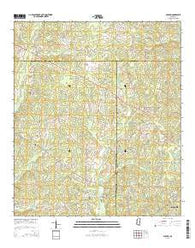 Auburn Mississippi Current topographic map, 1:24000 scale, 7.5 X 7.5 Minute, Year 2015