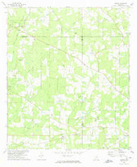 Auburn Mississippi Historical topographic map, 1:24000 scale, 7.5 X 7.5 Minute, Year 1972