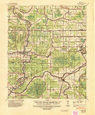 Auter Mississippi Historical topographic map, 1:62500 scale, 15 X 15 Minute, Year 1940