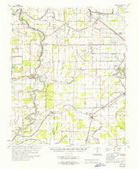 Auter Mississippi Historical topographic map, 1:62500 scale, 15 X 15 Minute, Year 1967