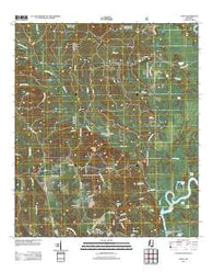 Avent Mississippi Historical topographic map, 1:24000 scale, 7.5 X 7.5 Minute, Year 2012