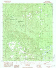 Avent Mississippi Historical topographic map, 1:24000 scale, 7.5 X 7.5 Minute, Year 1982