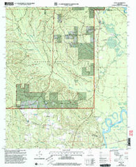 Avent Mississippi Historical topographic map, 1:24000 scale, 7.5 X 7.5 Minute, Year 2000
