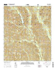 Avera Mississippi Current topographic map, 1:24000 scale, 7.5 X 7.5 Minute, Year 2015