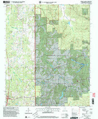 Bagley Lake Mississippi Historical topographic map, 1:24000 scale, 7.5 X 7.5 Minute, Year 2000