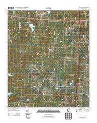 Bailey Lake Mississippi Historical topographic map, 1:24000 scale, 7.5 X 7.5 Minute, Year 2012