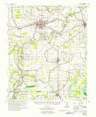 Baird Mississippi Historical topographic map, 1:62500 scale, 15 X 15 Minute, Year 1967