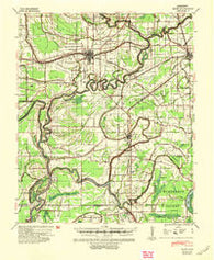 Baird Mississippi Historical topographic map, 1:62500 scale, 15 X 15 Minute, Year 1940