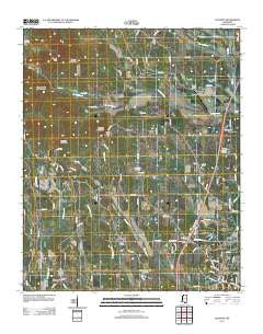 Baldwyn Mississippi Historical topographic map, 1:24000 scale, 7.5 X 7.5 Minute, Year 2012