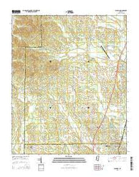 Baldwyn Mississippi Current topographic map, 1:24000 scale, 7.5 X 7.5 Minute, Year 2015