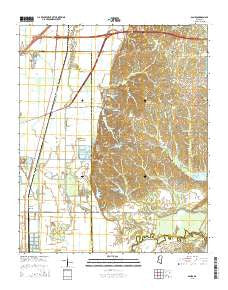 Banks Mississippi Current topographic map, 1:24000 scale, 7.5 X 7.5 Minute, Year 2015