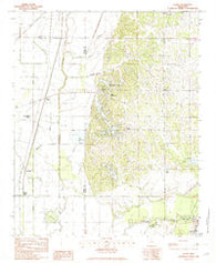 Banks Mississippi Historical topographic map, 1:24000 scale, 7.5 X 7.5 Minute, Year 1982