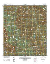Barbara Mississippi Historical topographic map, 1:24000 scale, 7.5 X 7.5 Minute, Year 2012