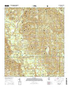Barbara Mississippi Current topographic map, 1:24000 scale, 7.5 X 7.5 Minute, Year 2015