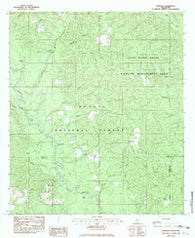 Barbara Mississippi Historical topographic map, 1:24000 scale, 7.5 X 7.5 Minute, Year 1982