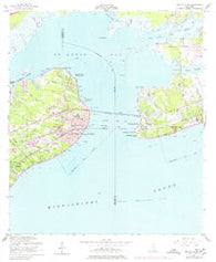 Bay St. Louis Mississippi Historical topographic map, 1:24000 scale, 7.5 X 7.5 Minute, Year 1956