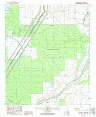 Bayland Se Mississippi Historical topographic map, 1:24000 scale, 7.5 X 7.5 Minute, Year 1988