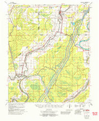 Bayland Mississippi Historical topographic map, 1:62500 scale, 15 X 15 Minute, Year 1961
