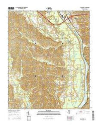 Beans Ferry Mississippi Current topographic map, 1:24000 scale, 7.5 X 7.5 Minute, Year 2015