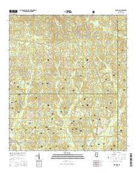 Beatrice Mississippi Current topographic map, 1:24000 scale, 7.5 X 7.5 Minute, Year 2015