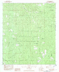 Beatrice Mississippi Historical topographic map, 1:24000 scale, 7.5 X 7.5 Minute, Year 1982
